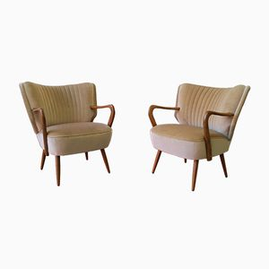 German Cocktail Club Chairs, 1970s, Set of 2