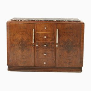 Art Deco Sideboard with Marble Top