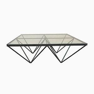 Vintage Iron & Glass Coffee Table, 1980s