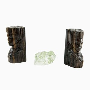 Rosewood Bookends Set, 1930