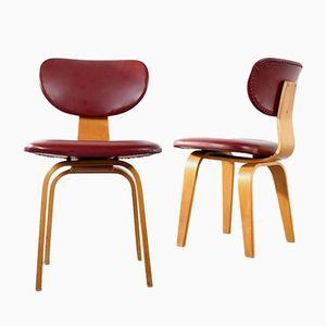 Mid-Century SB02 Esszimmerstühle von Cees Braakman für Pastoe, 2er Set
