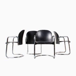 Vintage Dialogo Stühle von Afra & Tobia Scarpa für B&B Italia, 4er Set