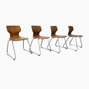 Vintage Stühle von Elmar Flötotto für Flötotto, 1970er, 4er Set