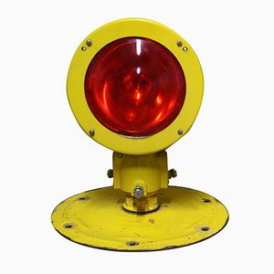 Salvaged Runway Lights with Red Glass, 1980s