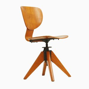 Birch Plywood Office Chair, 1950s