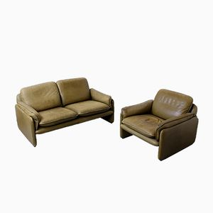 Vintage 2-Seater Sofa and DS-61 Club Chair from de Sede