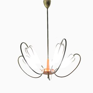Vintage French 5-Arm Ceiling Light