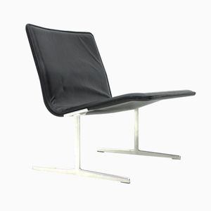 RZ 602 Leather Lounge Chair by Dieter Rams for Vistoe & Zapf, 1960s