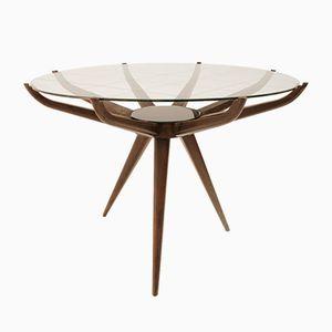 Round Italian Coffee Table, 1950s