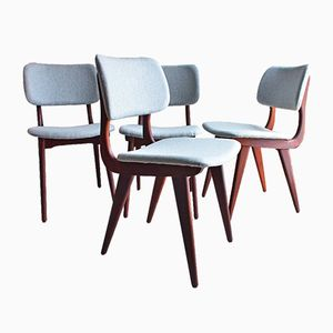Mid-Century Dining Chairs by Luis van Teeffelen, Set of 4