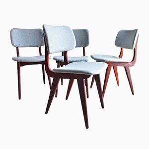 Mid-Century Esszimmerstühle von Luis van Teeffelen, 4er Set