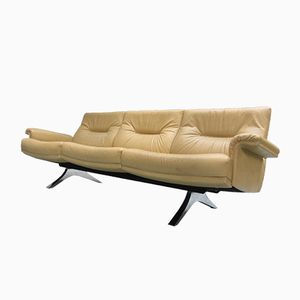 Swiss Leather Three-Seater Sofa DS-35 from de Sede, 1970s
