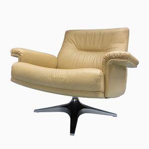 Swiss Leather Swivel Chair DS-35 from de Sede, 1970s