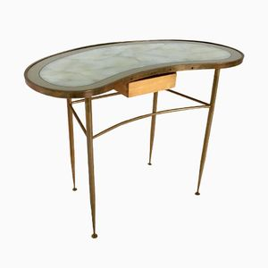 Italian Brass and Glass Console Table, 1960s