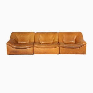 DS-46 Sessel aus Büffelleder von de Sede, 1970er, 3er Set