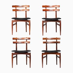 Mid-Century No. 30 Dining Chairs in Rosewood by Poul Hundevad, Set of 4