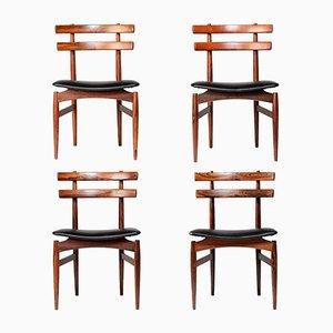 Mid-Century Nr. 30 Esszimmerstühle aus Palisander von Poul Hundevad, 4er Set