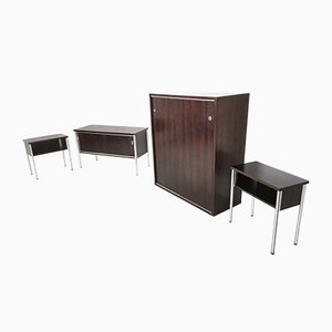 Rosewood Office Furniture Set from Sormani, 1970s