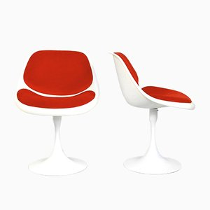 Swivel Fiberglass Tulip Chairs, 1970s, Set of 2