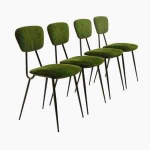 Chaises de Salon Vertes, Italie, 1950s, Set de 4