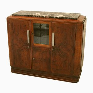 Vintage Art Deco Sideboard with Showcase