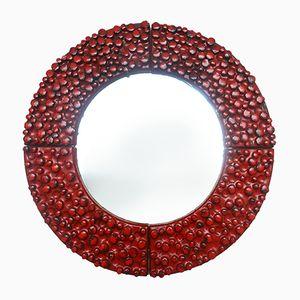 Ceramic Mirror by Oswald Tieberghien, 1960s