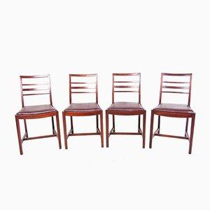 Eichenholz Esszimmerstühle von Ercol, 1940er, 4er Set