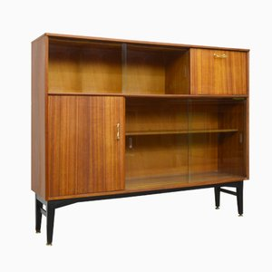 Mid-Century Teak & Glass Display Cabinet from Nathan