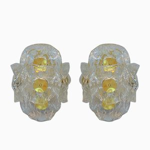Italian Murano Glass Wall Sconces from Zeroquattro, 1980s, Set of 2