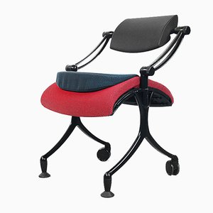 Adjustable Aero Office Chair and Stool, 1980s