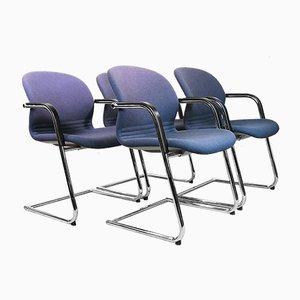 Deutsche 216/5 Bürostühle von Wilkhahn, 1983, 4er Set
