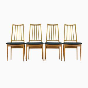 Danish Ash Dining Chairs, 1960s, Set of 4