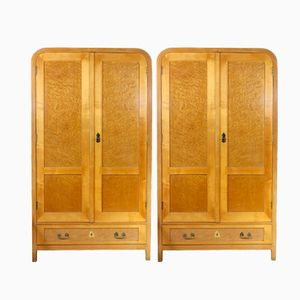 Vintage Bentwood Wardrobes from Thonet, Set of 2
