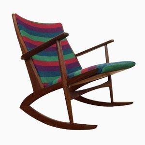 Chaise à Bascule en Teck par Soren Georg Jensen, Danemark, 1950s
