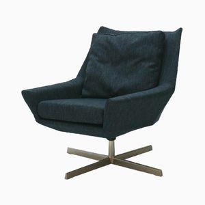 Navy Blue Lounge Chair by Bert Lieber for Wilhelm Knoll, 1961