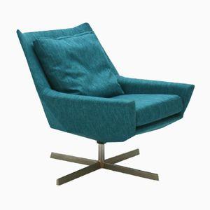 Petrol Green Lounge Chair by Bert Lieber for Wilhelm Knoll, 1961