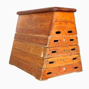 Vintage Wooden Gymnastics Equipment