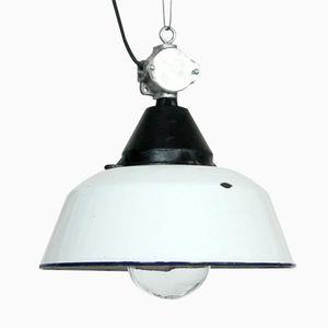 White Industrial Lamp from Szarvasi, 1960s