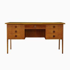 Danish Teak Desk with Drawers, 1970s