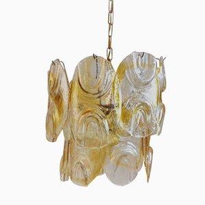 Mundgeblasene Deckenlampe von Mazzega, 1970er