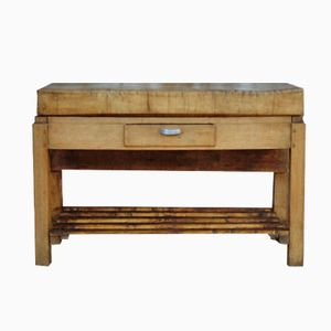 Early 20th Century Rustic French Butchers Block