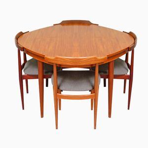 Teak Dining Table Set by Hans Olsen for Frem Røjle, 1952