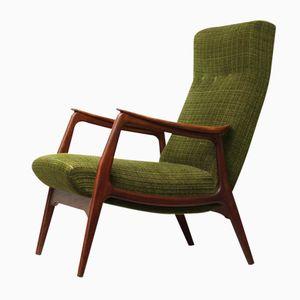 Vintage Teak Wooden Lounge Chair, 1950s