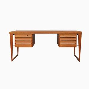 Teak Executive Desk by Kai Kristiansen, 1960s