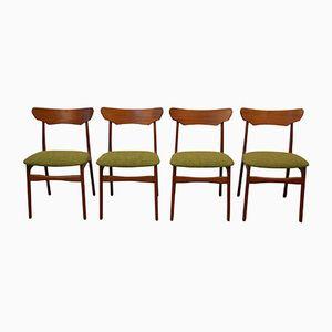 Teak Esszimmerstühle von Schiønning & Elgaard für Randers Mobelfabrik, 1960er, 4er Set