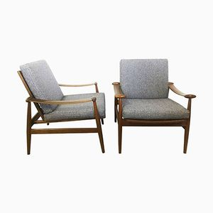 Spade Armchairs by Finn Juhl for France & Son, 1950s, Set of 2