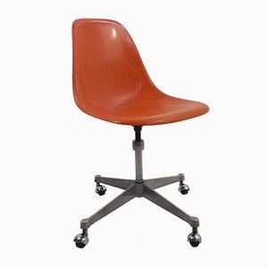 Vintage Office Chair with Casters by Charles & Ray Eames, 1970s