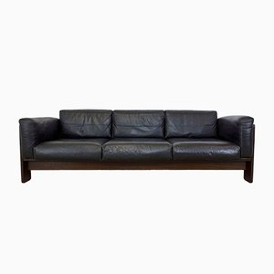 Vintage Rosewood and Leather Bastiano Three-Seater Sofa by Tobia Scarpa for Knoll