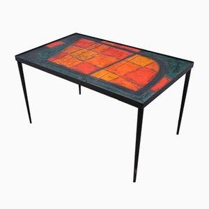 Table Basse Lava en Céramique par Robert & Jean Cloutier pour Potiers de Vallauris, 1950s