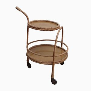 Rope Bar Cart by Adrien Audoux and Frida Minet, 1960s